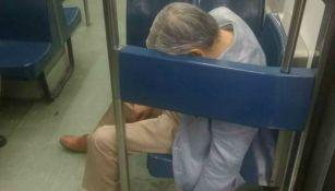 Hombre fallecido en vagón del metro de la Línea 1