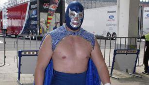 Blue Demon Jr. previo a un evento