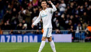 CrIstiano Ronaldo celebra un gol con la tribuna
