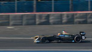 Esteban Gutiérrez, a bordo de su monoplaza de Fórmula E