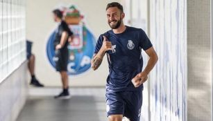 Miguel Layún, en las instalaciones del Porto