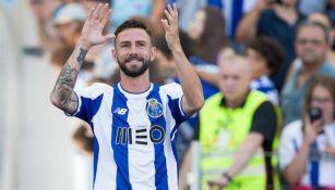 Layún, durante la presentación del Porto para la temporada 2017-18