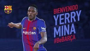 Barcelona anuncia la llegada de Yerry Mina