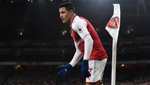 Alexis Sánchez, durante juego entre Arsenal y Chelsea