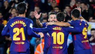Barcelona celebra en goleada contra el Celta de Vigo