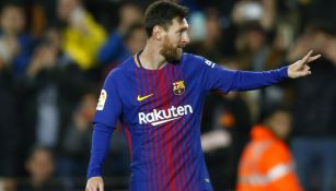 Messi celebra gol contra el Celta en Camp Nou