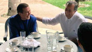Julio César Chávez y José Antonio Meade disfrutar de una reunión