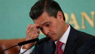Peña Nieto se lamenta en discurso