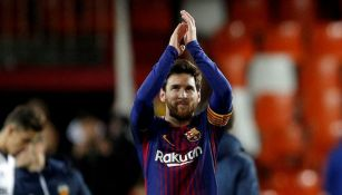 Messi aplaude tras un juego del Barcelona