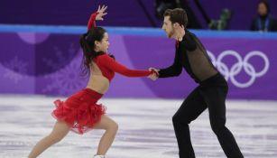 Yura Min and Alexander Gamelin, en su presentación en PyeongChang 2018
