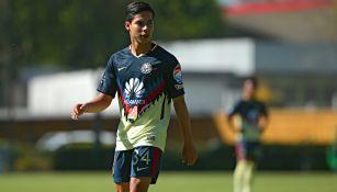Diego Lainez en un juego con la Sub 20 del América