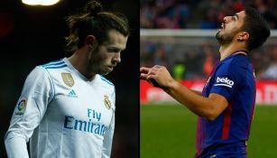 Bale y Suárez se lamentan en juegos con sus respectivos equipos