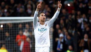 Cristiano Ronaldo festeja tras marcar el empate contra PSG