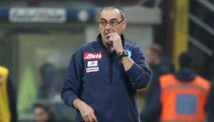 Maurizio Sarri, en el juego entre Nápoles e Inter en la Serie A
