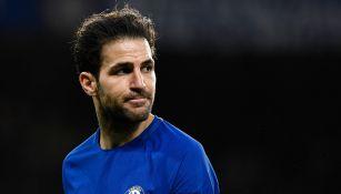 Fabregas, durante un juego con el Chelsea