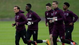 Jugadores del West Ham durante una sesión de entrenamiento