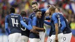 Francia celebra una anotación contra Colombia