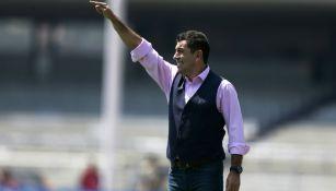 David Patiño, durante el juego contra Puebla