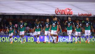 América durante el duelo contra Santos