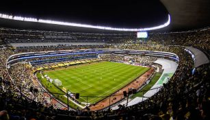 Vista general del Estadio Azteca en un partido del América