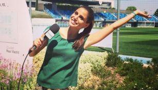 Lucía Villalón en los campos de entrenamiento de Real Madrid