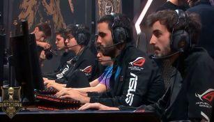 Los jugadores de Rainbow7, durante una partida en el MSI 2018
