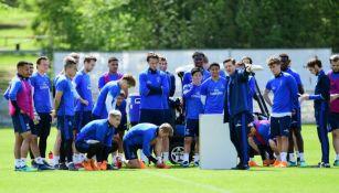 Jugadores del Hamburgo en un entrenamiento