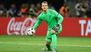 Neuer, en un juego de Alemania en la Euro 2016