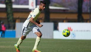 Zaim Ortíz, en un juego con el América Sub 17 en 2017