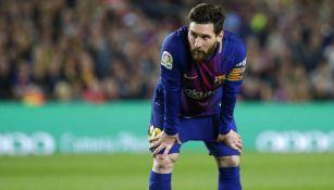 Messi se prepara para un partido