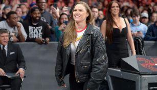 Ronda Rousey en un evento de la WWE
