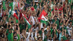 Afición de México durante el juego del Tri contra Gales