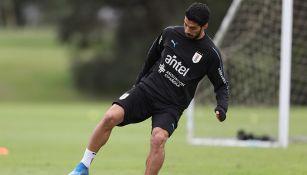 Luis Suárez, en entrenamiento con Uruguay
