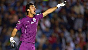 Antonio Rodríguez, durante un juego con Chivas