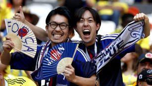 Seguidores de Japón en el juego entre su selección y Colombia