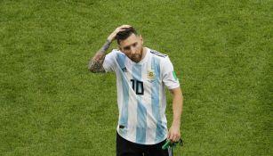 Messi al termino del partido contra Francia