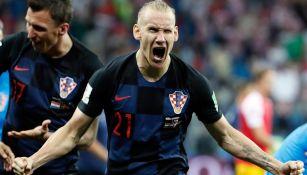 Domagoj Vida celebra el pase a Semifinales del Mundial