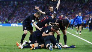 Croacia celebra una anotación frente a Rusia