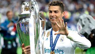 Cristiano Ronaldo sonríe tras ganar la Champions con el Madrid