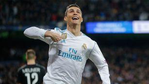 Cristiano Ronaldo celebra una anotación con el Real Madrid