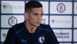 Iván Marcone, en una conferencia de prensa