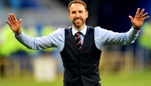 Gareth Southgate festeja triunfo de Inglaterra