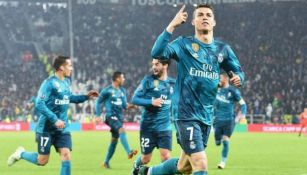 CR7 festeja un tanto con el Real Madrid