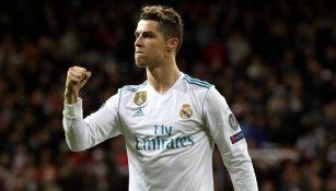 CR7 festeja un gol con el Real Madrid
