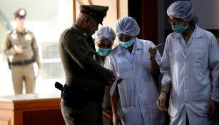 Elementos de seguridad y enfermeras velan por la salud de niños rescatados