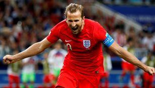 Haryy Kane celebra una anotación con Inglaterra en el Mundial