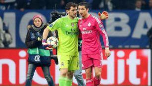 Iker Casillas y CR7, durante la etapa que coincidieron en el Madrid