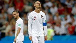 Cristiano Ronaldo se lamenta en un juego con Portugal
