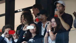 Mick Jagger disfruta del juego entre Croacia e Inglaterra
