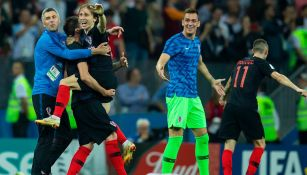 Jugadores croatas celebran el pase a la Final